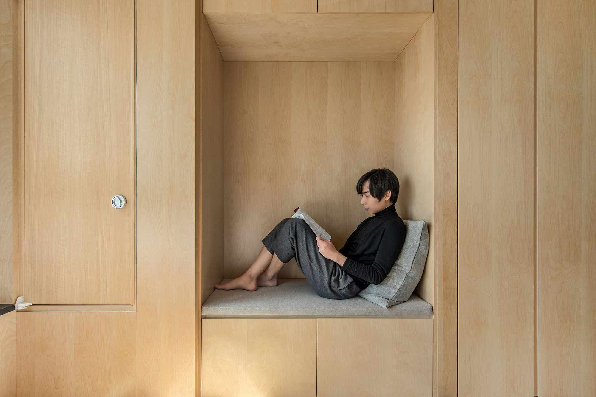 LIFE micro-apartments coliving Ian Lee reading nook
