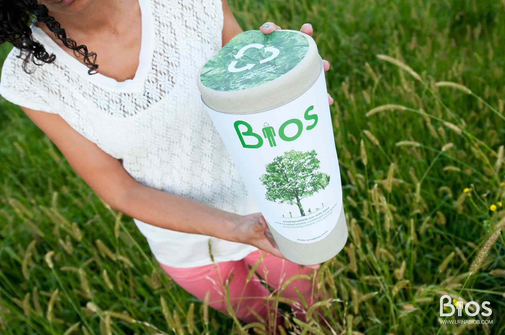 The Bios Urn is 100 percent biodegradable and holds the ashes of your loved one plus a seed to grow a tree.