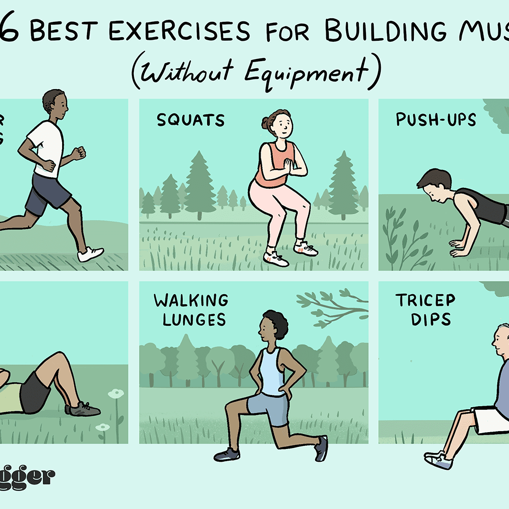 6 Exercises For Building Muscle Without Equipment