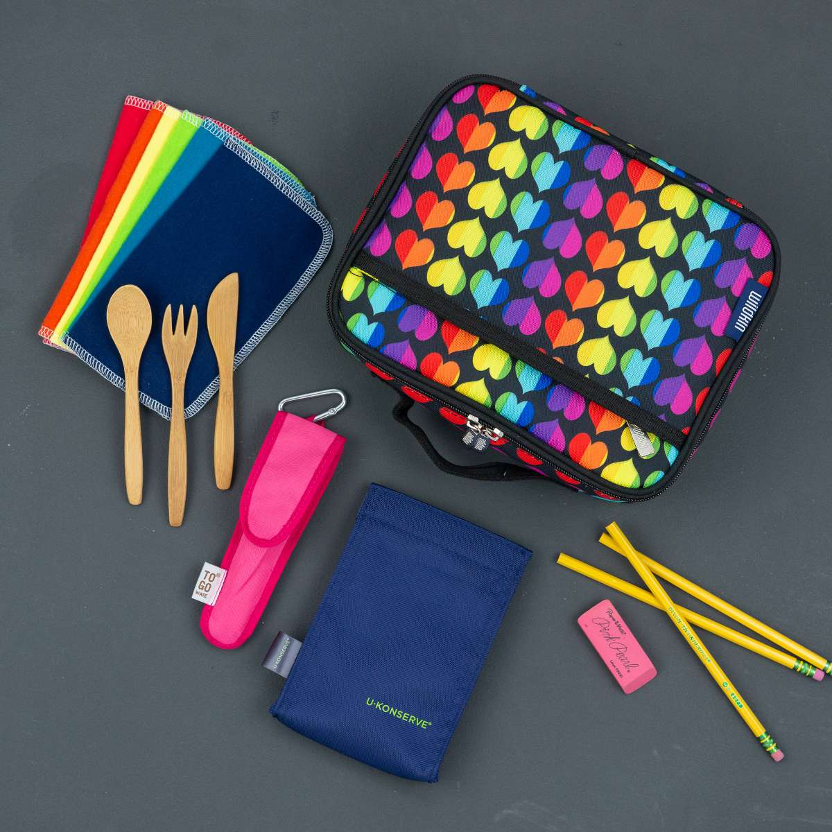 MightyNest Kids Classic Lunch Box Essentials Kit