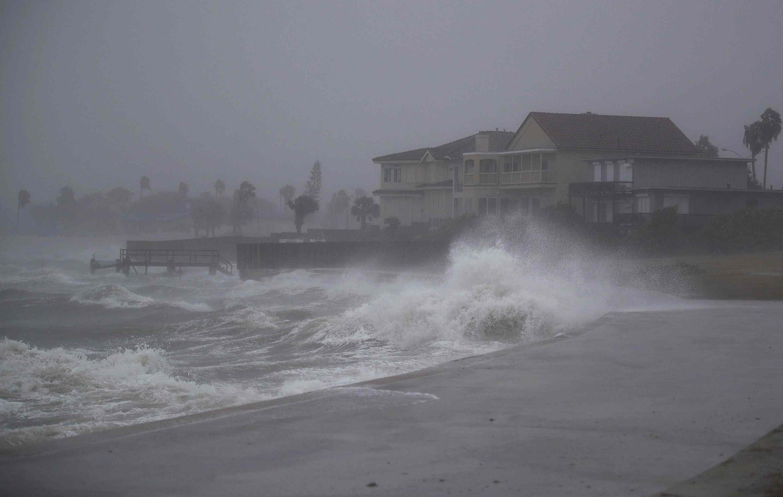 Hurricane Harvey landfall