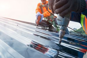Metal roofing stays shiny because of PFAS