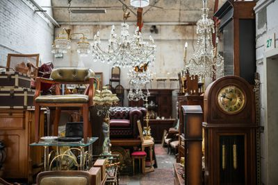 Furniture at a flea market