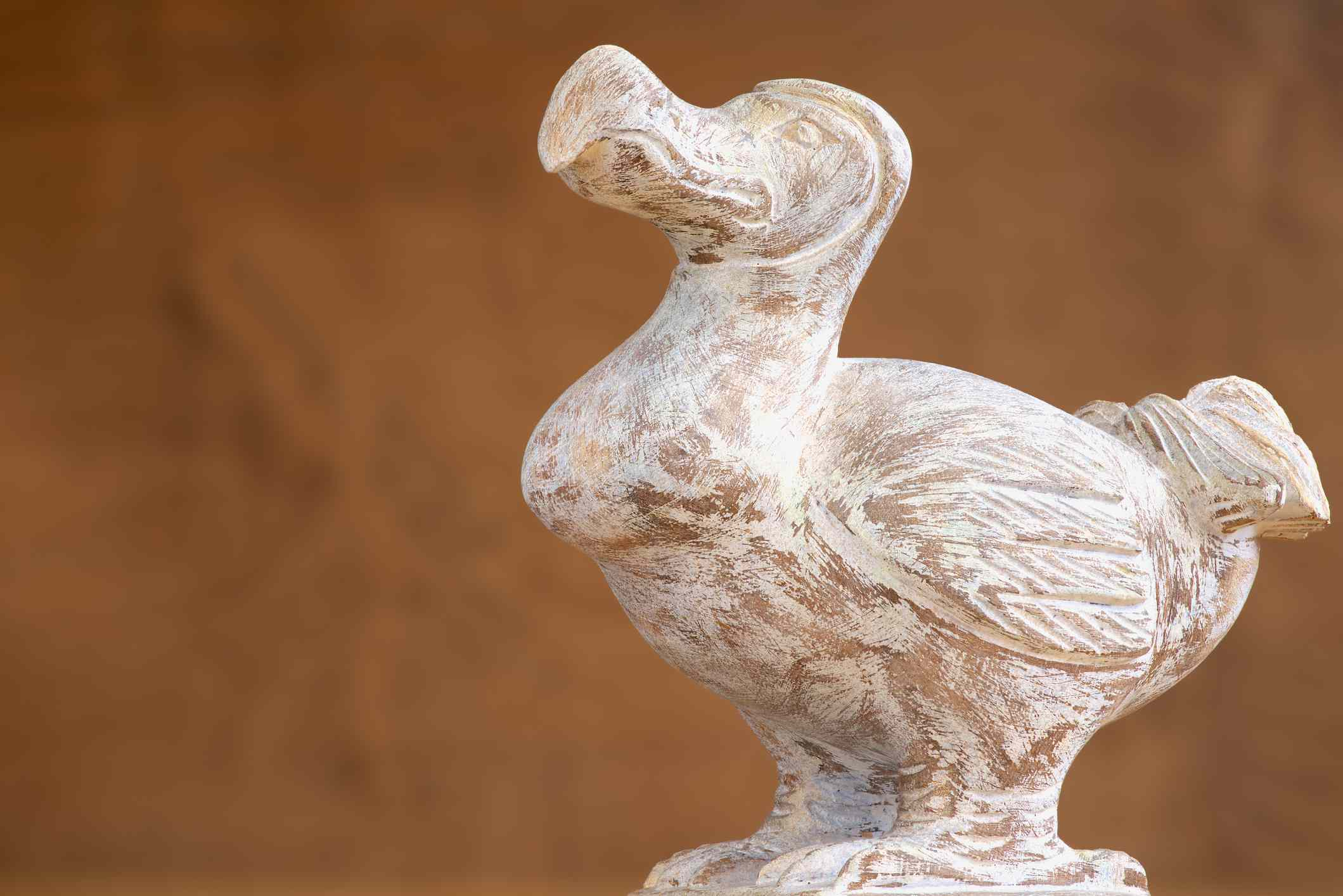 Wooden Dodo bird, typical souvenir from the island of Mauritius.