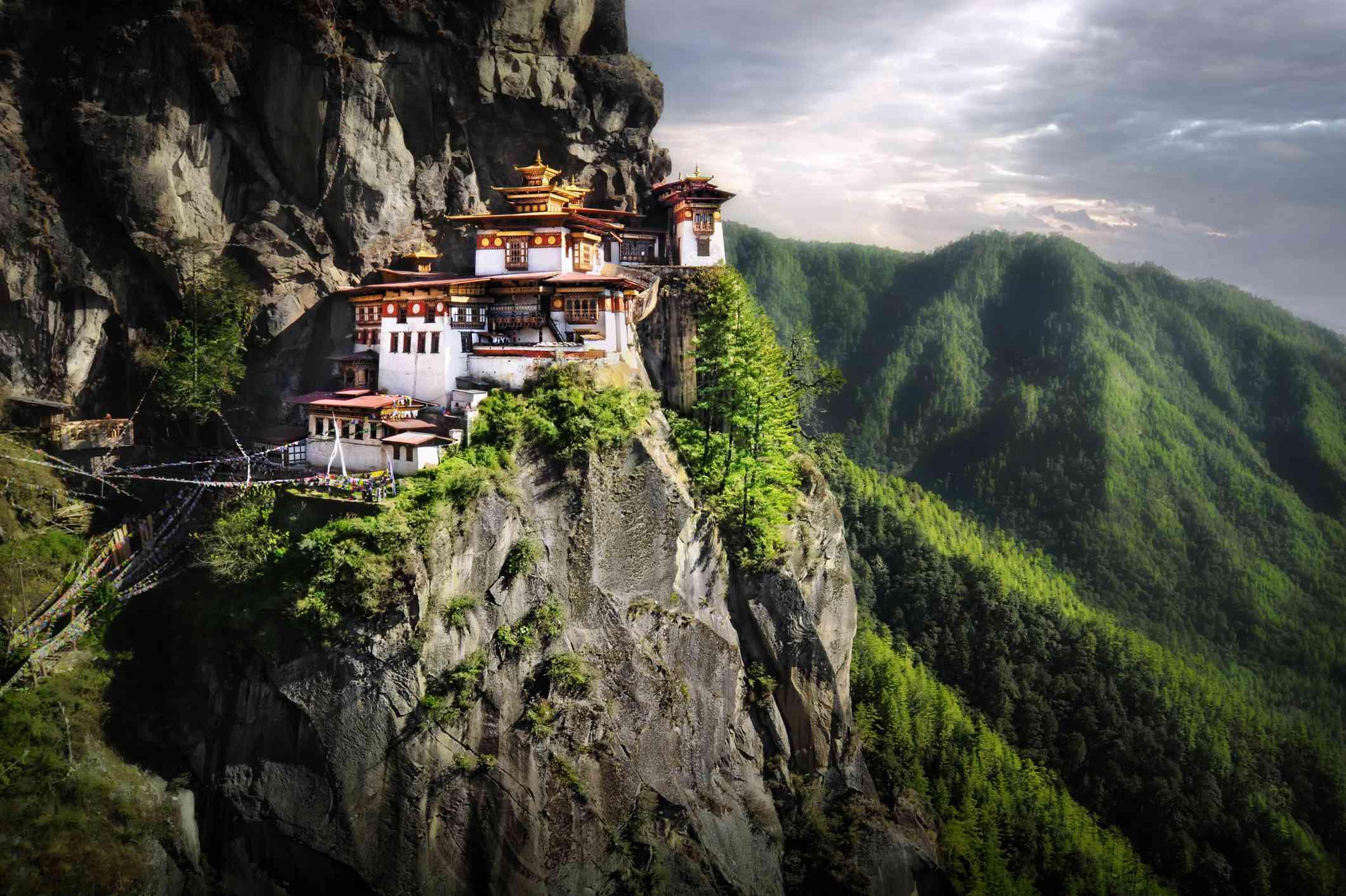 Monastery in the Himalayan Mountains of Bhutan