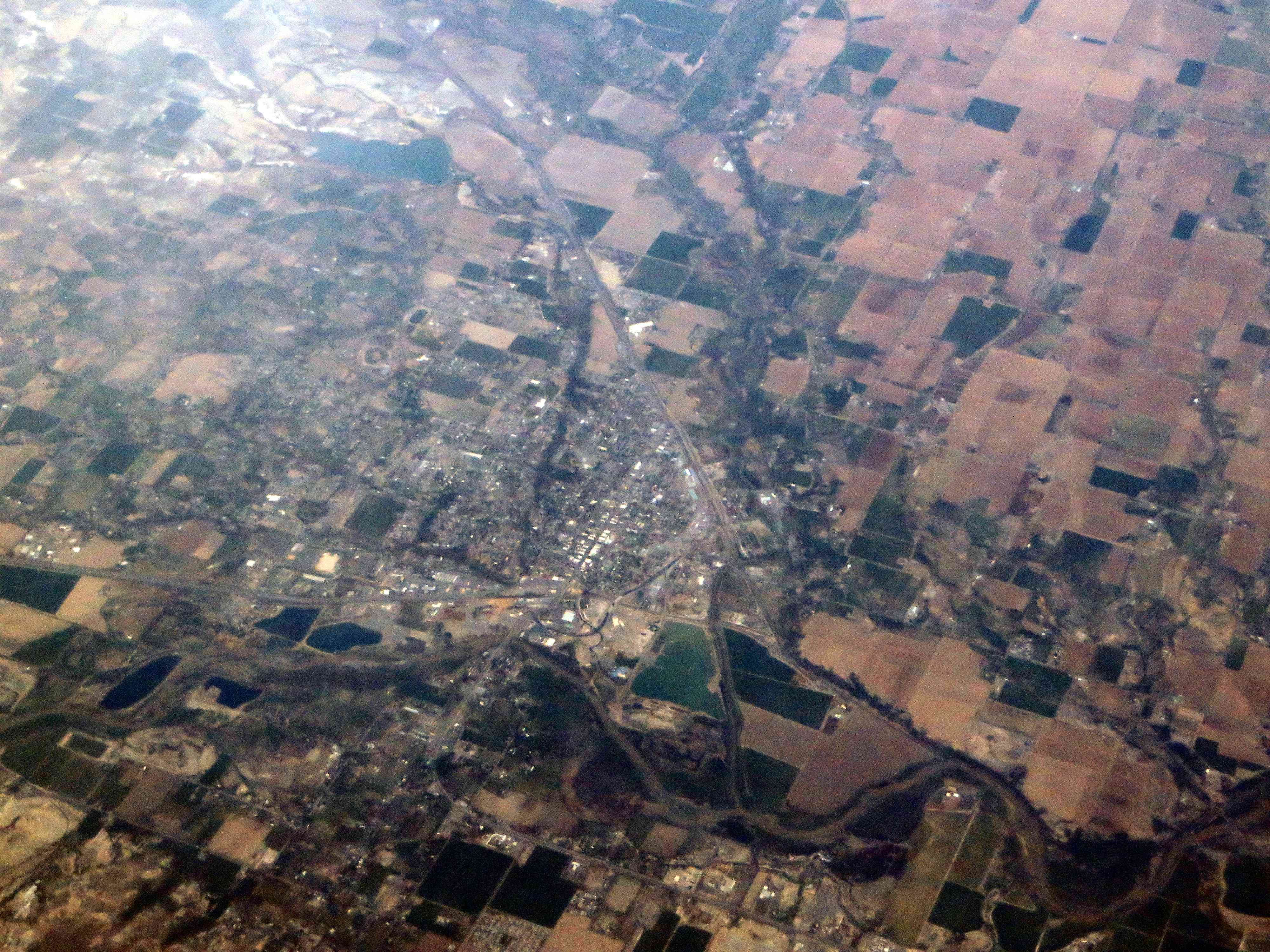 aerial view of Delta, Colorado