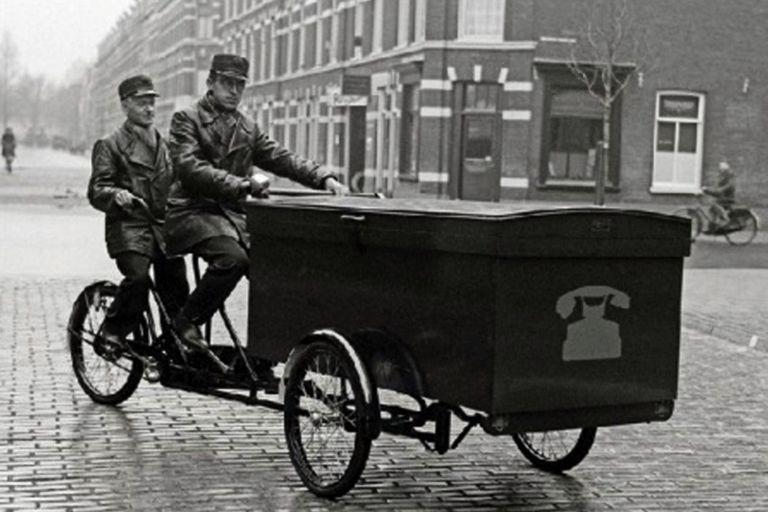 Telephone installers and cargo bike