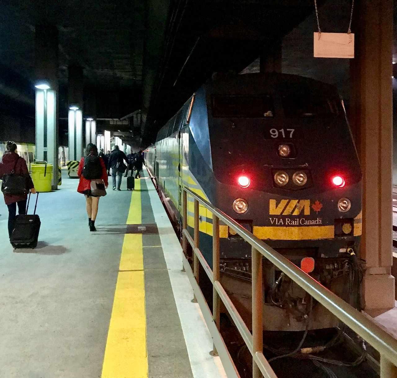 Via train in station