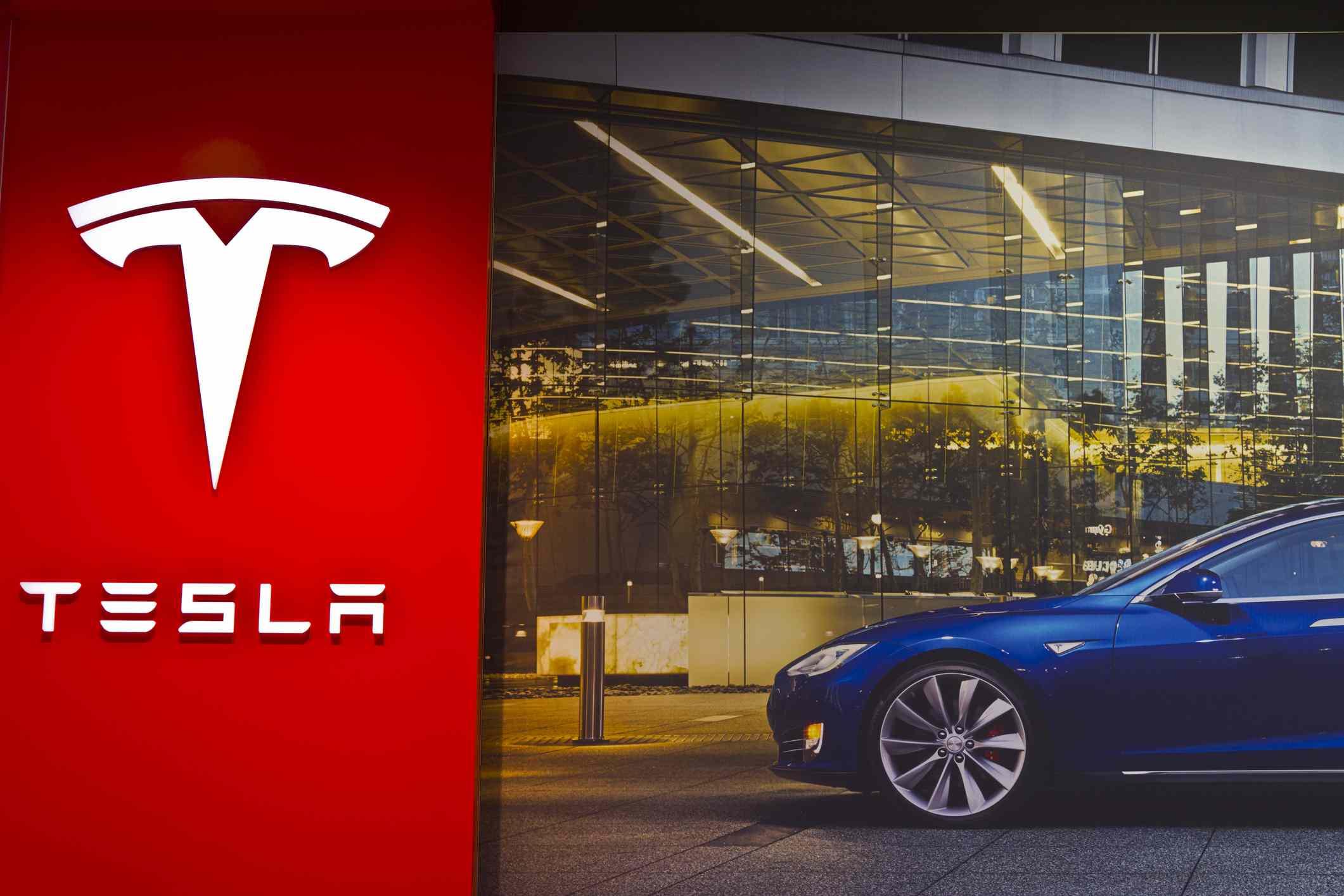 Tesla showroom in Indianapolis