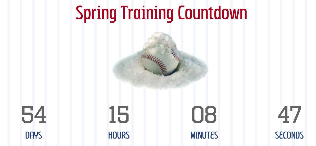 Spring training countdown clock