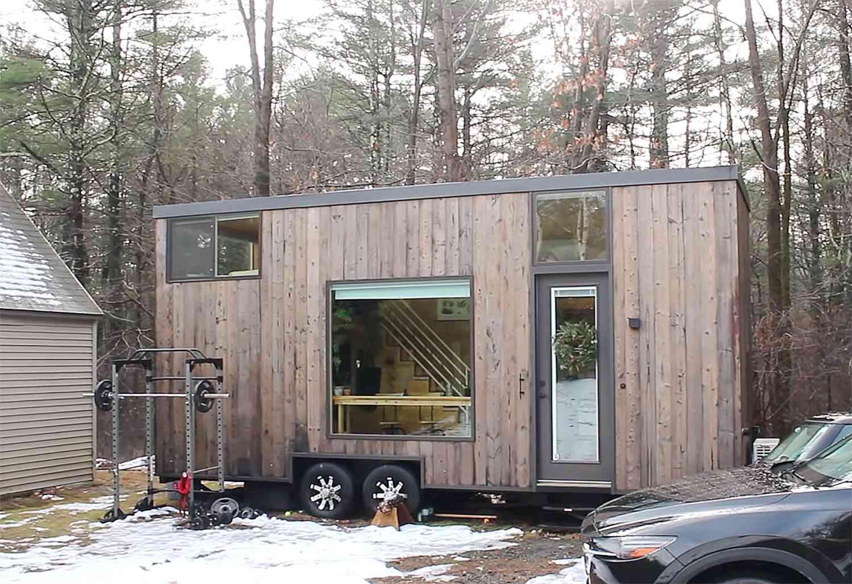 tiny house with houseplants exterior