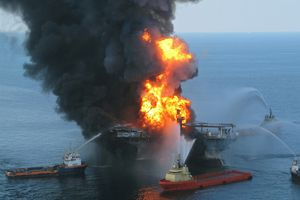 Fire that resulted from the explosion on the Deepwater Horizon oil rig