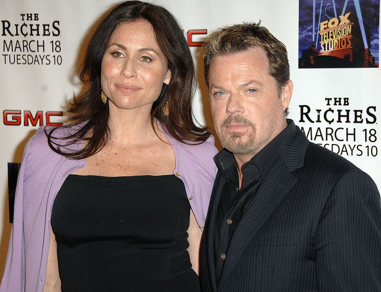 """Eddie Izzard and Minnie Driver at premiere of """"The Riches"""""""