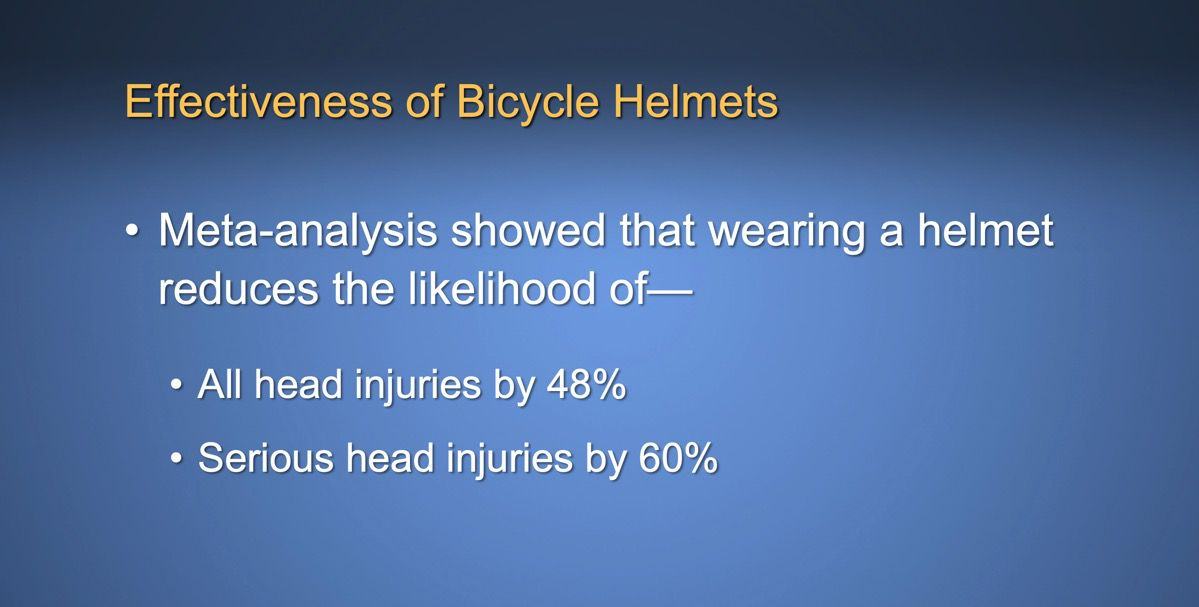 helmets are effective
