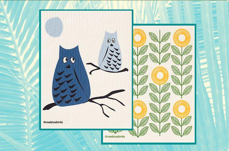 Cute patterns on swedish dishcloths