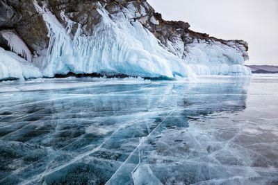 Siberia frozen lake