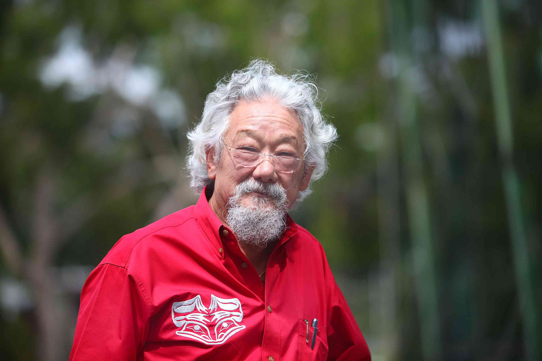 David Suzuki walking at the Melbourne Sustainable Living Festival