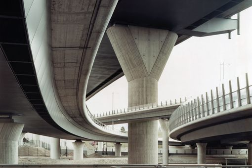 A concrete bridge