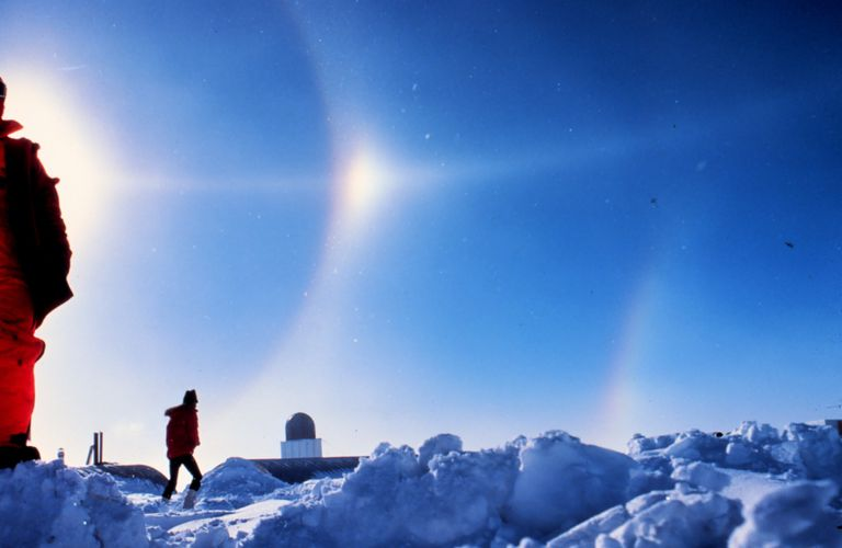 south pole station researchers