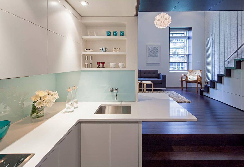 manhattan microloft specht architects kitchen