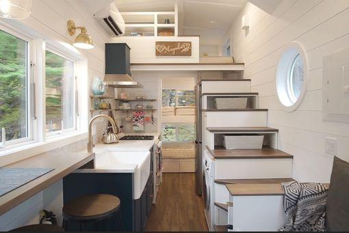 Magnolia tiny house by Summit Tiny Homes interior