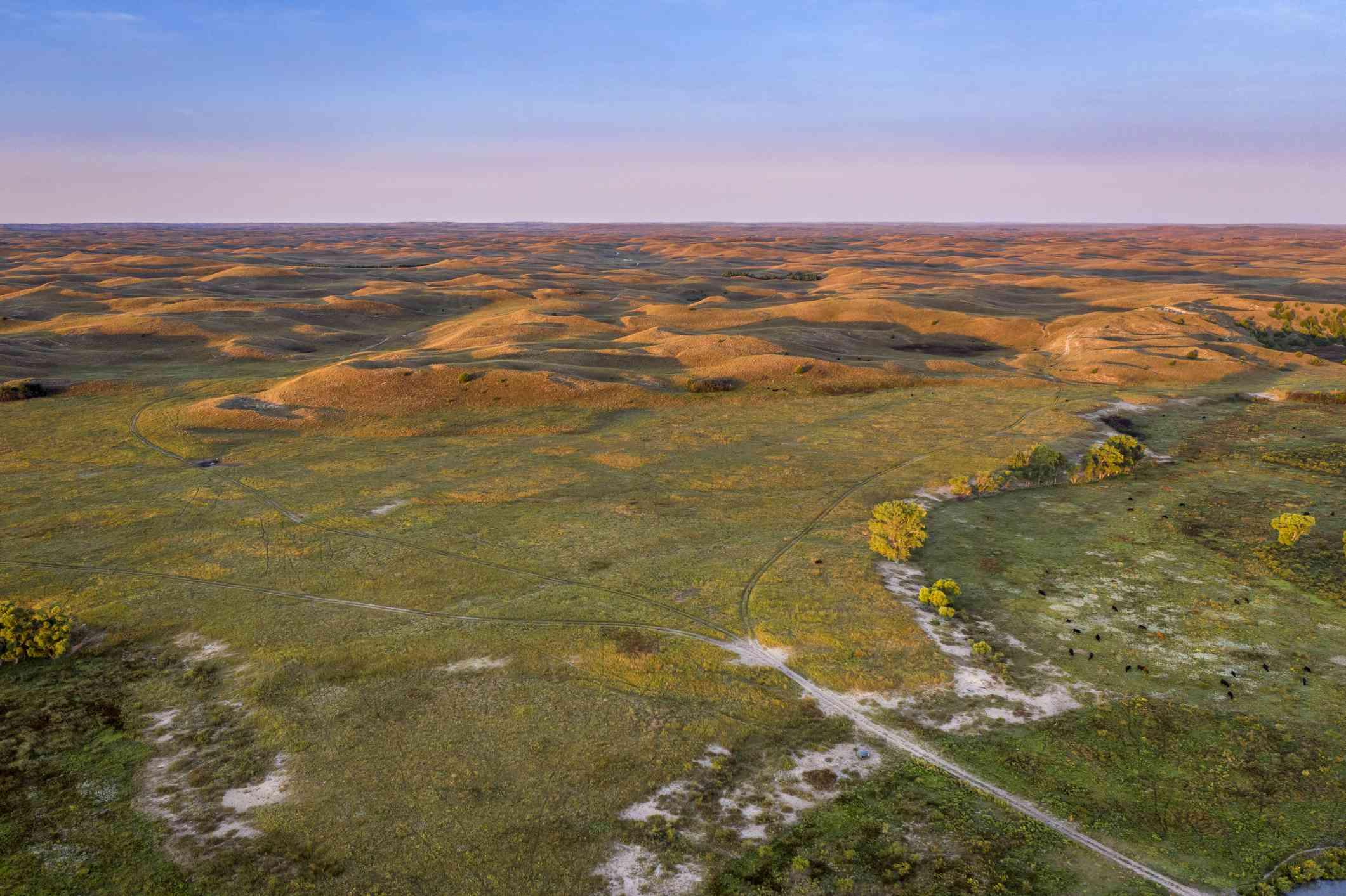 View of Nebraska's Sand Hills, under which the Ogallala Aquifer lies.