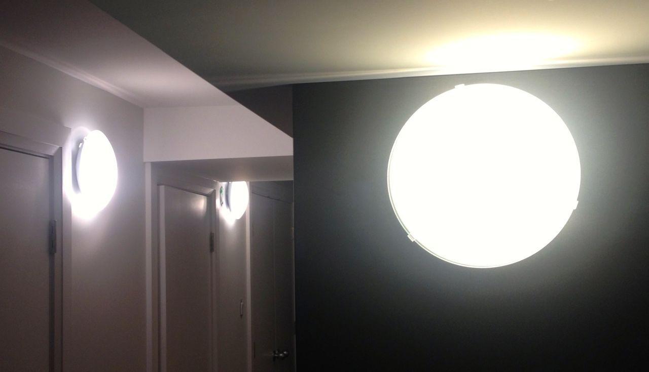 Ikea lights in hall