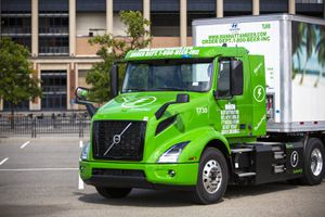 Volvo electric truck front