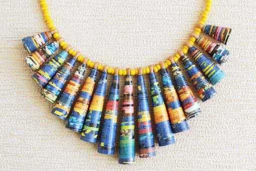 Sunday comics necklace