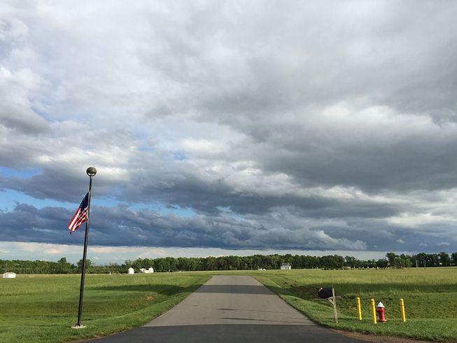 Stratocumulus clouds in Sterling, Virginia
