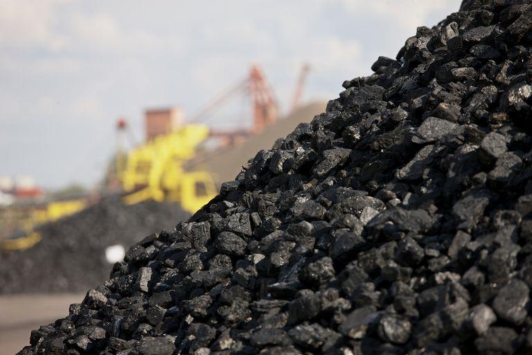 pile of black coal
