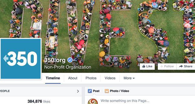 350.org on Facebook