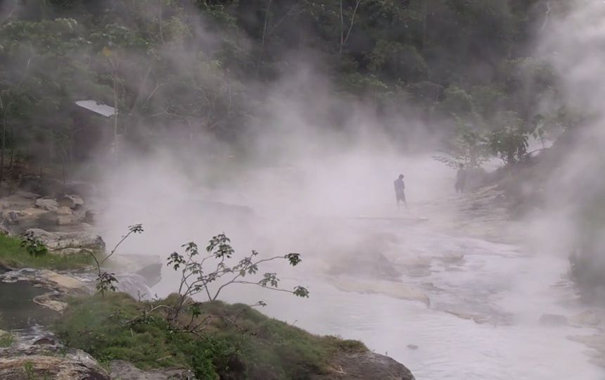 Steaming jungle river