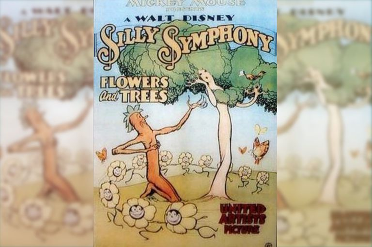 Poster of first Technicolor Silly Symphony, Flowers and Trees