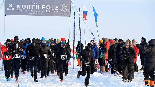 Maratón del Polo Norte: donde el frío amargo te frena y los pensamientos de los osos polares te hacen ir más rápido