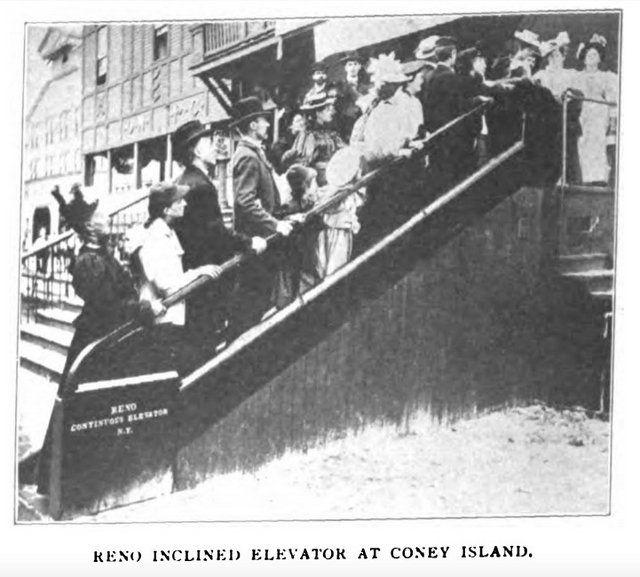 coney Island escalator