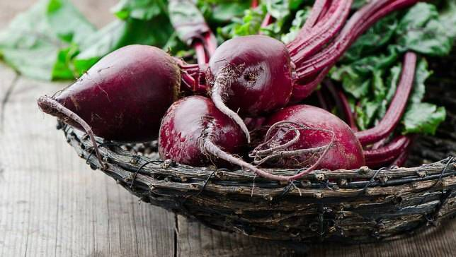 Beets in a basket.