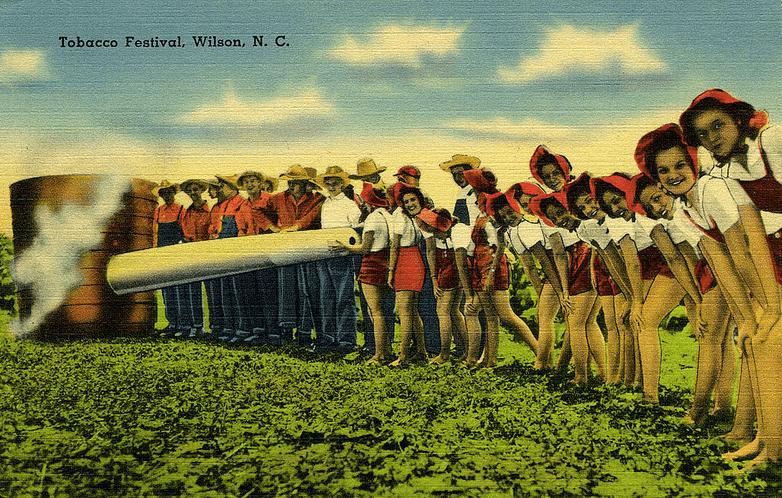 Vintage Tobacco Festival postcard, North Carolina
