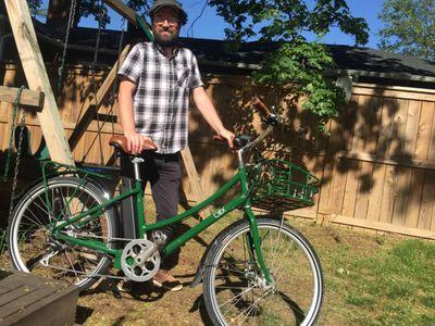 The author and his e-bike