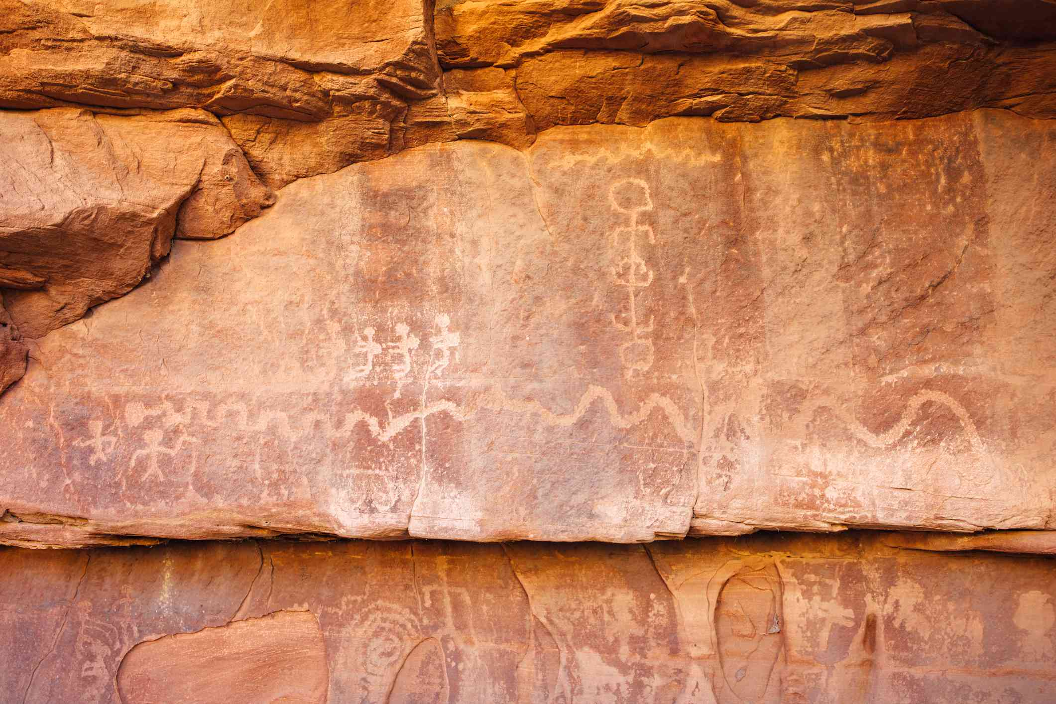 Petroglyphs in Zion National Park, Utah