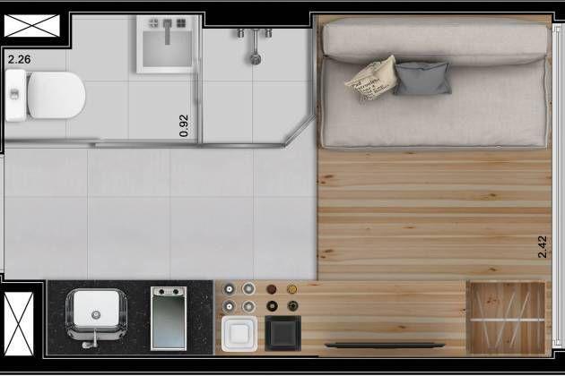 plan of very tiny unit