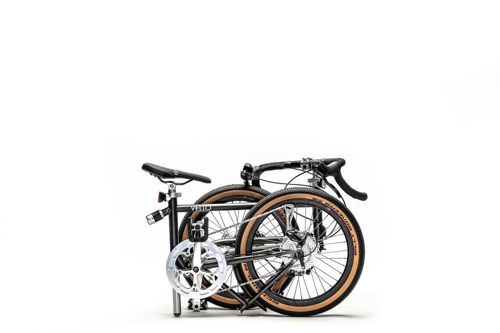 Vello bike folded up