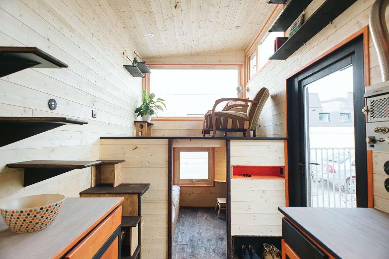 idle tiny house living room area