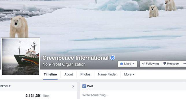 Greenpeace International on Facebook