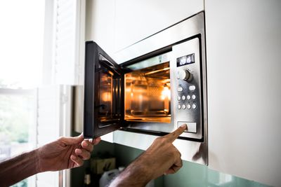 Typing into a microwave