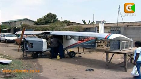 kenyan builds plane photo