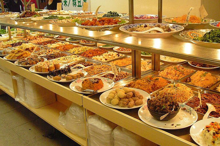 A vegitarian buffett in Taipe