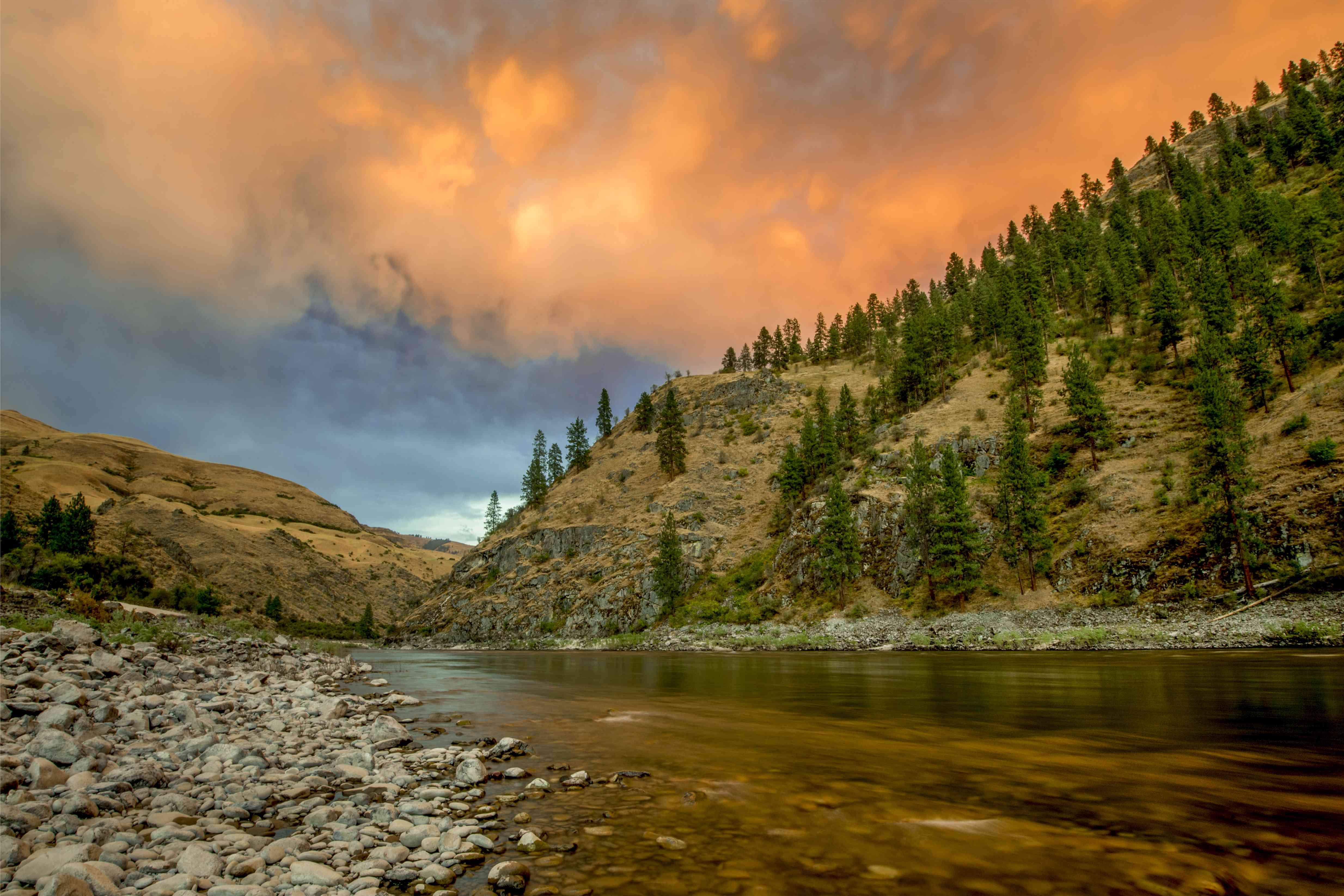 Sunset, Lower Salmon River, Idaho