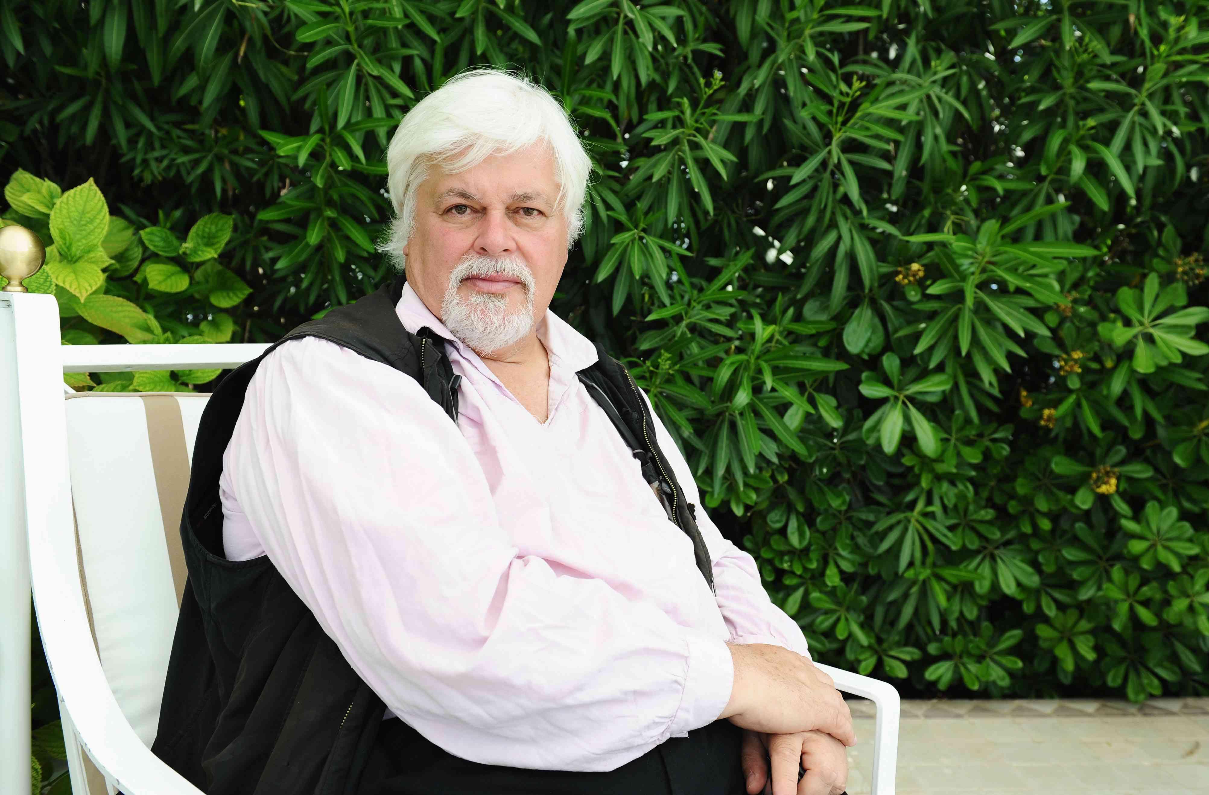 Paul Watson sitting in garden