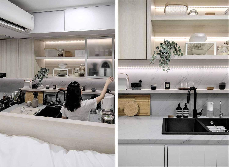 Quiet Apartment Co+in Collaborative Lab kitchen